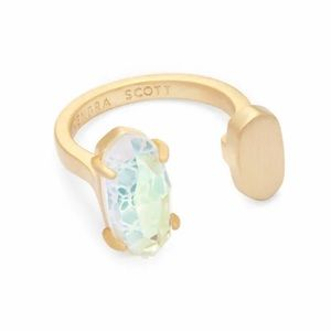 Pryde Gold Dichroic Glass Ring M/L